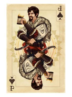 Jack of Spades - Playing Card by Lantern Press