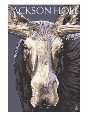 Jackson Hole, Wyoming - Moose Up Close by Lantern Press