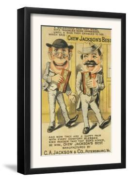 Jackson's Best Chew Advertisement, Happy Pair of Men - Petersburg, VA by Lantern Press