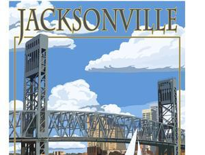 Jacksonville, Florida - Bridge Scene by Lantern Press