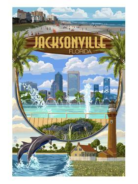 Jacksonville, Florida - Montage Scenes by Lantern Press