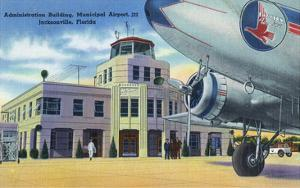 Jacksonville, Florida - Municipal Airport Administration Building by Lantern Press