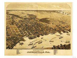 Jacksonville, Florida - Panoramic Map by Lantern Press