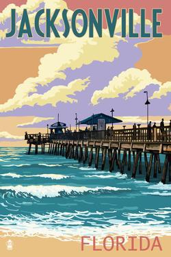 Jacksonville, Florida - Pier and Sunset by Lantern Press