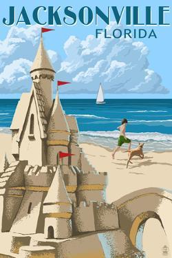 Jacksonville, Florida - Sand Castle by Lantern Press
