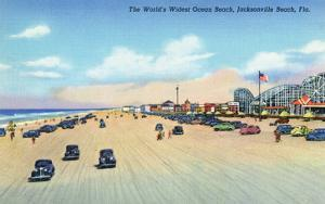 Jacksonville, Florida - View of World's Widest Ocean Beach by Lantern Press