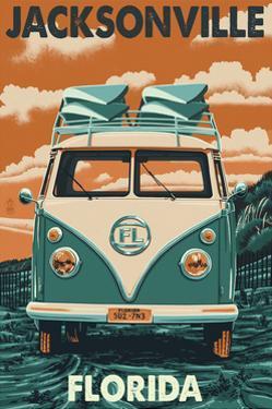 Jacksonville, Florida - VW Van by Lantern Press