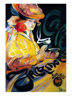 Jacqmotte Cafe Vintage Poster - Europe by Lantern Press