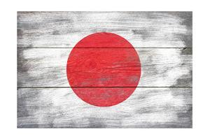 Japan Country Flag - Barnwood Painting by Lantern Press