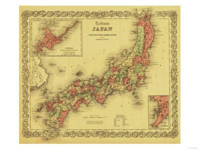Japan - Panoramic Map by Lantern Press