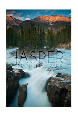 Jasper National Park, Alberta, Canada - Sunwapta Falls by Lantern Press
