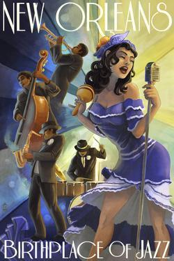 Jazz Scene - New Orleans, Louisiana by Lantern Press