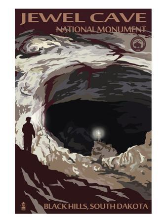 Jewel Cave National Monument - Black Hills, South Dakota by Lantern Press