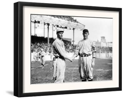 Joe Wood, Boston Red Sox & Jeff Tesreau, NY Giants, Baseball Photo - Boston, MA by Lantern Press