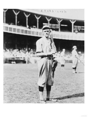 John Evers Chicago Cubs Portrait View Baseball Photograph - Chicago, IL by Lantern Press