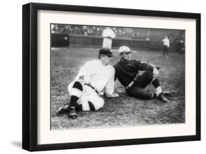 John McGraw, NY Giants, Fred Tenney, Boston Rustlers, Baseball Photo - New York, NY by Lantern Press