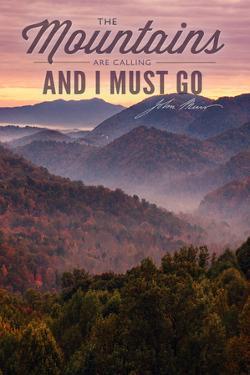 John Muir - the Mountains are Calling - Sunset by Lantern Press