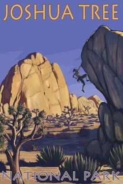 Joshua Tree National Park, California, Boulder Climber by Lantern Press