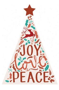Joy Love Peace - Christmas Tree by Lantern Press