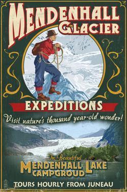 Juneau, Alaska - Mendenhall Glacier Tours by Lantern Press