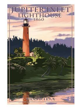 Jupiter Inlet Lighthouse - Jupiter, Florida by Lantern Press