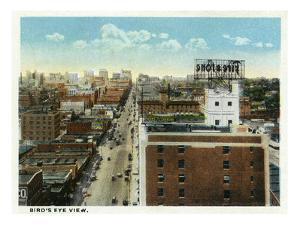 Kansas City, Missouri - Aerial View of the City by Lantern Press