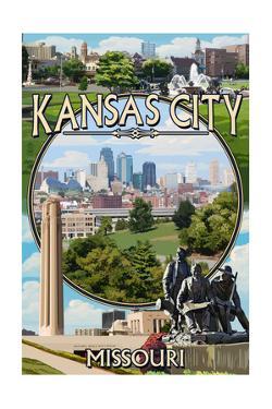 Kansas City, Missouri - Montage Scenes by Lantern Press