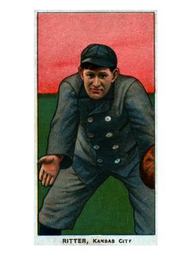 Kansas City, MO, Kansas City Minor League, Lou Ritter, Baseball Card by Lantern Press