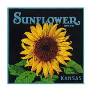 Kansas - Sunflower Brand Crate Label by Lantern Press