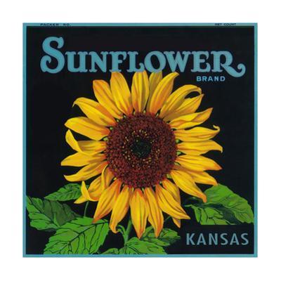 Kansas - Sunflower Brand Crate Label