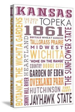 Kansas - Typography by Lantern Press