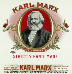 Karl Marx Brand Cigar Box Label, Karl Marx by Lantern Press