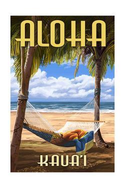 Kauai, Hawaii - Hammock Scene by Lantern Press