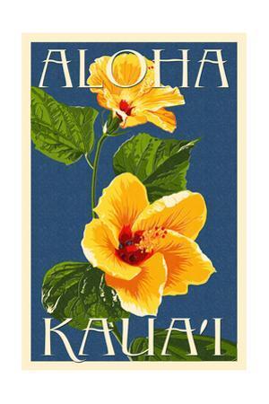 Kauai, Hawaii - Yellow Hibiscus by Lantern Press