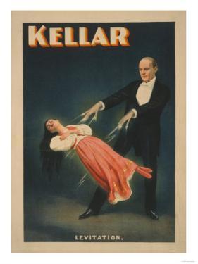 Kellar Levitation Magic Poster No.2 by Lantern Press