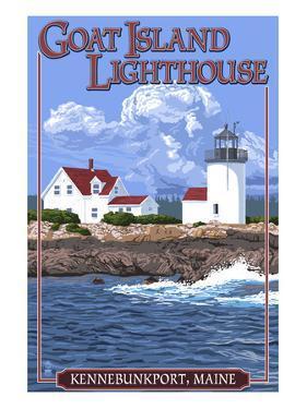 Kennebunkport, Maine - Goat Island Lighthouse by Lantern Press
