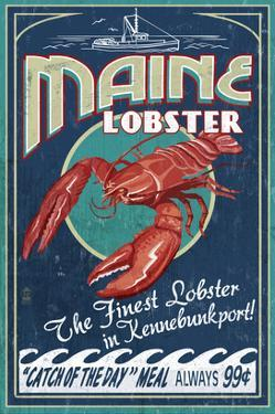Kennebunkport, Maine - Lobster by Lantern Press
