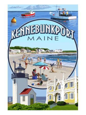 Kennebunkport, Maine - Montage Scenes by Lantern Press