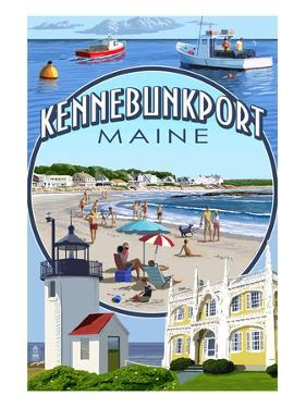 Kennebunkport, Maine - Montage Scenes by Lantern Press