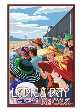 Kentucky - Ladies Day at the Track Horse Racing by Lantern Press
