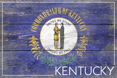 Kentucky State Flag - Barnwood Painting