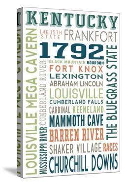 Kentucky - Typography by Lantern Press