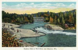Keshena Falls, Wisconsin - Wolf River Near Shawano Scene by Lantern Press