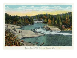 Keshena Falls, Wisconsin - Wolf River Near Shawano Scene by Lantern Press