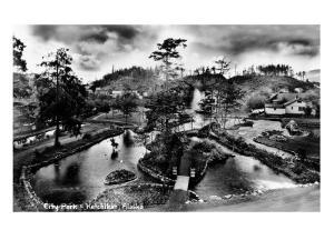 Ketchikan, Alaska - General View of City Park by Lantern Press