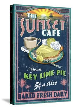 Key Lime Pie - Vintage Sign by Lantern Press