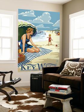 Key West, Florida - Beach Scene by Lantern Press