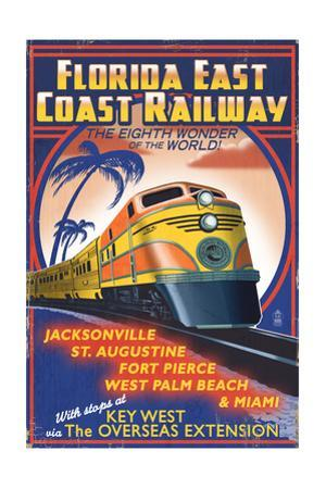 Key West, Florida - East Coast Railway by Lantern Press