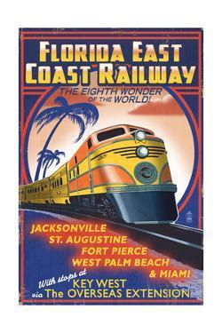Key West, Florida - East Coast Railway by Lantern Press