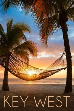 Key West, Florida - Hammock and Sunset by Lantern Press